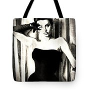 Sophia Loren - Black And White Tote Bag
