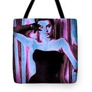 Sophia Loren - Blue Pop Art Tote Bag