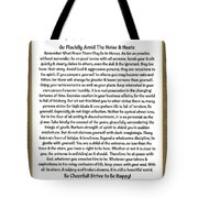 Sophistcated Medieval Style Desiderata Tote Bag