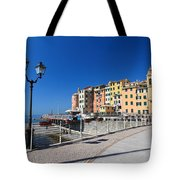 Sori Waterfront. Italy Tote Bag