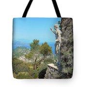 Sorrento Peninsula From Mt Solaro Capri  Tote Bag