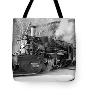 Sothbound Through Rockwood Black And White Tote Bag