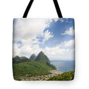 Soufriere St. Lucia Tote Bag