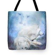 Soul Mates - White Wolves Tote Bag