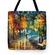 Soul Of The Rain - Palette Knife Oil Painting On Canvas By Leonid Afremov Tote Bag