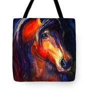 Soulful Horse Painting Tote Bag by Svetlana Novikova