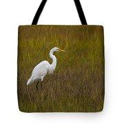 Soundside Park Topsail Island Egret Tote Bag