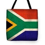 South Africa Flag Vintage Distressed Finish Tote Bag