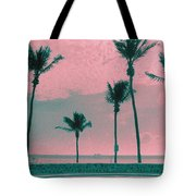 South Beach Miami Tropical Art Deco Five Palms Tote Bag
