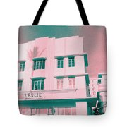 South Beach Miami Leslie Tropical Art Deco Hotel Tote Bag