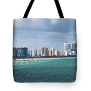 South Beach On A Summer Day Tote Bag