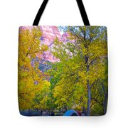 South Campground In Zion Np-ut Tote Bag