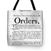South Carolina, 1780 Tote Bag