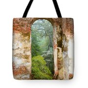 South Carolina Historic Church Photo Sheldon Ruins-- Another View From The Inside Tote Bag