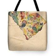 South Carolina Map Vintage Watercolor Tote Bag