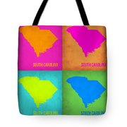 South Carolina Pop Art Map 1 Tote Bag