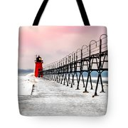 South Haven Light And Pier Tote Bag