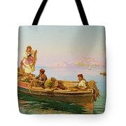South Italian Fishing Scene Tote Bag