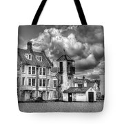 South Lookout Tower Aldeburgh Black And White Tote Bag