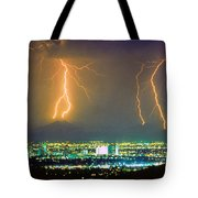 South Mountain Lightning Strike Phoenix Az Tote Bag