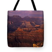 South Rim Grand Canyon Taken Near Yavapai Point Sunset Light On  Tote Bag