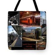 South Shore Line Railroad Collage Tote Bag