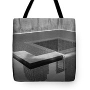 South Tower Pool In Black And White Tote Bag