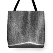 South Tower Rain In Black And White Tote Bag