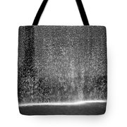 South Tower Water In Black And White Tote Bag