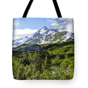 Southbound Alaska Railroad  Tote Bag