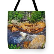 Southeast Brook Above Falls In Gros Morne Np-nl Tote Bag