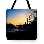 Southern California Santa Monica Pier Sunset Tote Bag