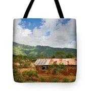 Southern Kenya Poverty Landscape Tote Bag