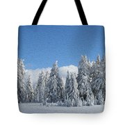 Southern Oregon Forest In Winter Tote Bag