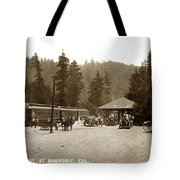 Southern Pacific Depot At Brookdale Santa Cruz Co. Cal. Circa 1910 Tote Bag