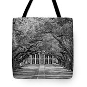 Southern Time Travel Bw Tote Bag