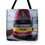 Southernmost Point Marker Tote Bag