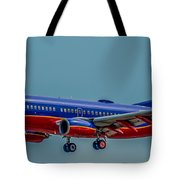 Southwest 737 Landing Tote Bag
