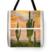 Southwest Desert Sunset White Rustic Distressed Window Art Tote Bag