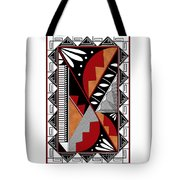 Southwest Collection - Design Seven In Red Tote Bag
