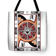 Southwest Collection - Design Six In Red Tote Bag