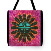 Southwest Sunburst Sunface Tote Bag