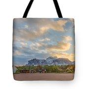 Southwest Sunrise Winter Tote Bag