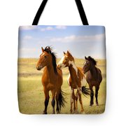 Southwest Wild Horses On Navajo Indian Reservation Tote Bag