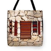 Souvenir Rugs For Sale At Wadi Mujib Jordan Tote Bag by Robert Preston