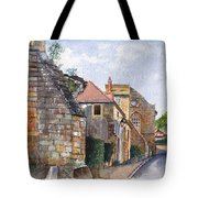 Souvigny Eclectic Architecture In A Village In Central France Tote Bag