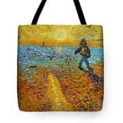 Sower Of Squiggles Tote Bag