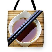 Soy Sauce With Chopsticks Tote Bag