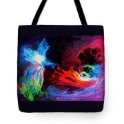 Space Cat Angel - 2 Tote Bag by Julie Turner