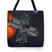 Space Colony Tote Bag